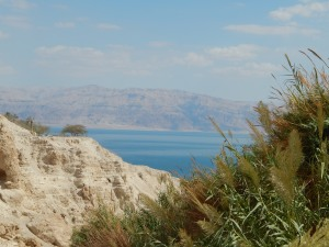 Looking out at the Salt Sea from En Gedi