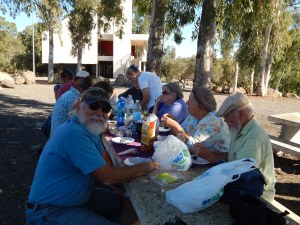 Lunch time on our touring day of the Jordan Valley and the Golan Heights.