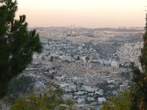 A view of Jerusalem from the Promenade.