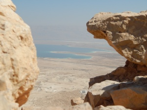 A view of the Salt Sea from the Plateau of Masada.
