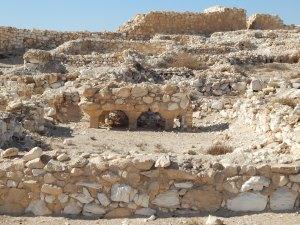 The ancient Canaanite city at Tel Arad.