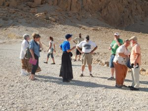 Walking around Qumran.