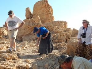 At Qumran - there's a cave around here somewhere!