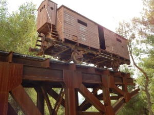 The train car to the death camps.  100 men, women and children were inhumanely stuffed into these rail cars.