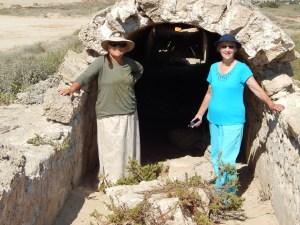 Shirley and Shir'el at the ancient Roman aqueduct, Caesarea.