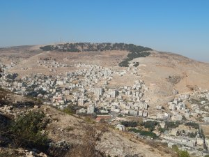 Shechem from Mt. Gerrizim Overlook.