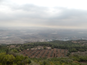 The Jezreel Valley from Mt. Carmel.