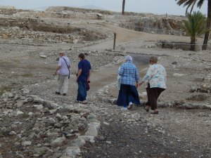 Walking around Tel Megiddo.