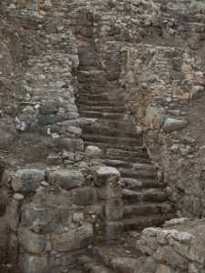 All those stairs! Tel Megiddo