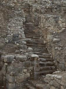 All those stairs! Tel Megiddo