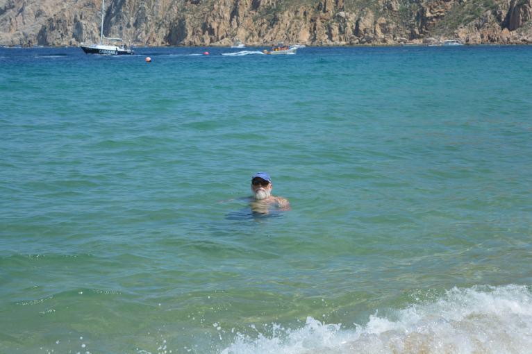 Steve enjoying the beach at Cabo